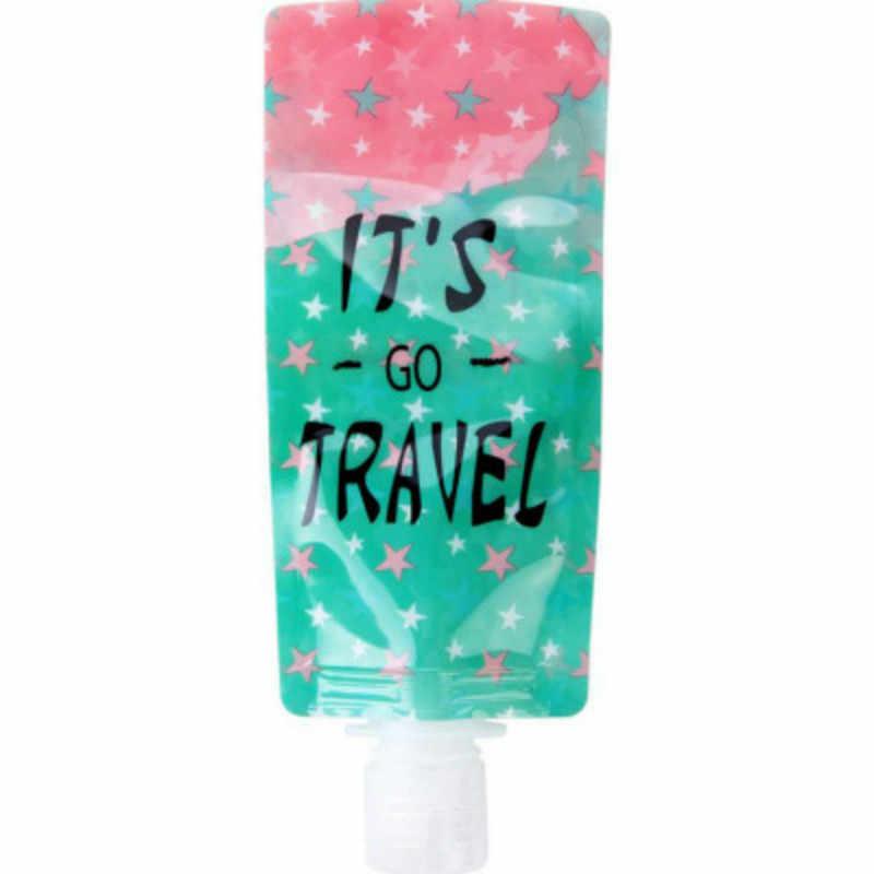 1 pc/2 sztuk 100ml torba podróżna składana płyn do demakijażu cieczy emulsji torba do przechowywania z tworzywa sztucznego organizer na kosmetyki torby organizatorzy