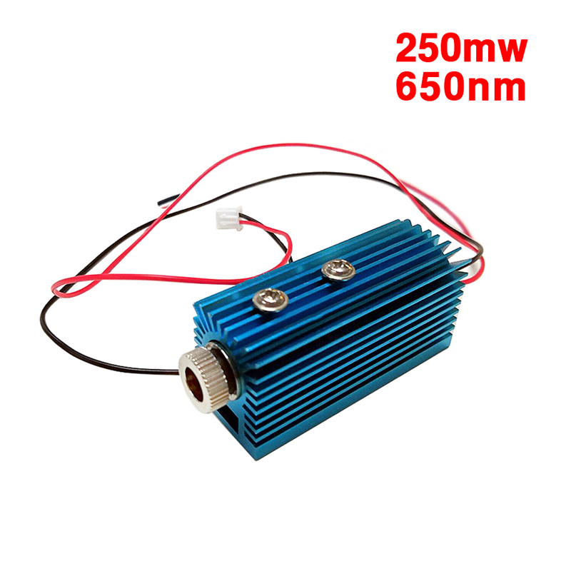 250mW 650nm Red Laser Dot Module Head Laser Module Engraver Accessory For CNC Laser Carving Engraving Machine