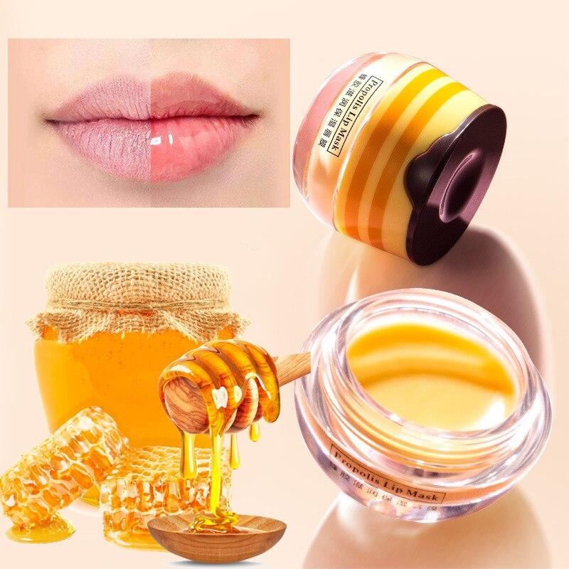 Brand Propolis Lip Sleeping Mask Skin Care Exfoliator Lips Balm Moisturizing Nourish Lip Plumper Hydrating Cream Lips Care