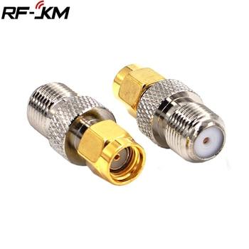 цена на RF Adapter F Type Female Jack to RP SMA male Plug Straight RF Coax Adapter F to sma Convertor