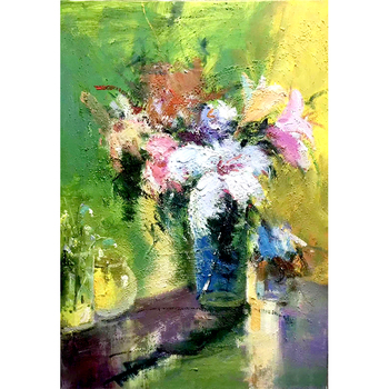 100% Hand Painted Abstract Flower Art Oil Painting On Canvas Wall Art Frameless Picture Decoration For Live Room Home Decor Gift