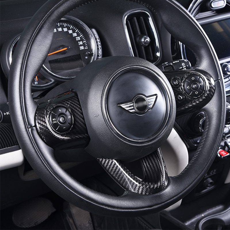 Car Steering Wheel Button Panel Cover Protection Sticker For BMW MINI Cooper S F54 F55 F56 F57 F60 Interior Styling Decoration