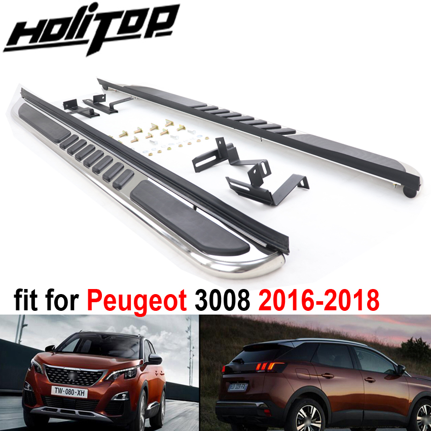 Car Running Board Side Step Bar Pedals for Peugeot 3008 2016 2018,High Quality from ISO9001 big factory. free shipping to Asia-in Armrests from Automobiles & Motorcycles    1
