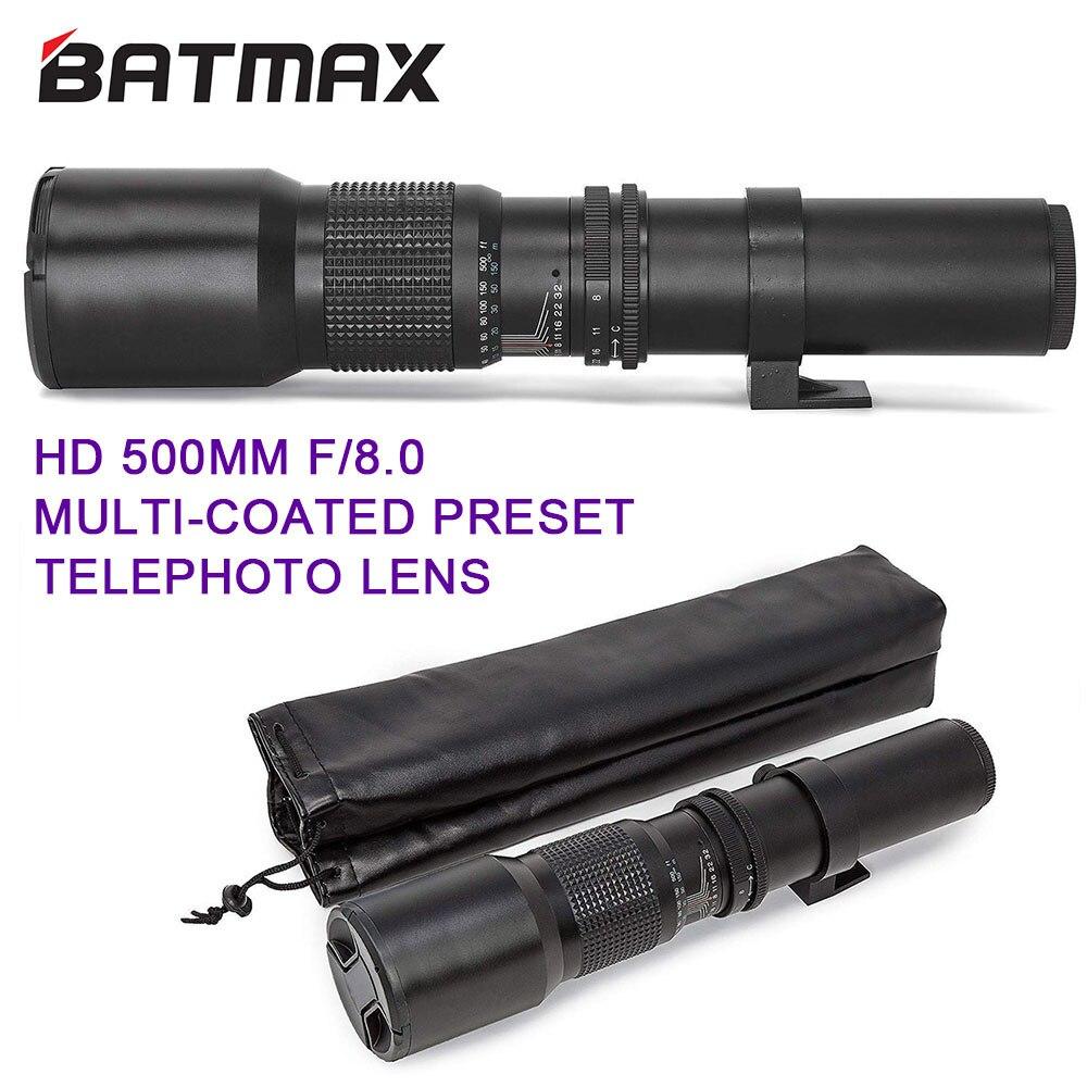 Manual da Lente Telefoto para Canon ii para Câmeras Batmax Zoom T6s T6i T5i T4i 7d 6d 5d Mark Iii Nikon Dslr 500mm – 1000mm F8.0