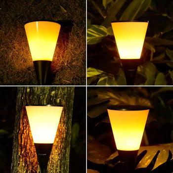 IP68 Солнечная лампа, наружный пейзаж, внутренний фонарь, лампа, пламя, фонарь, 96led уличный фонарь, газон, садовая вставка, настенная лампа