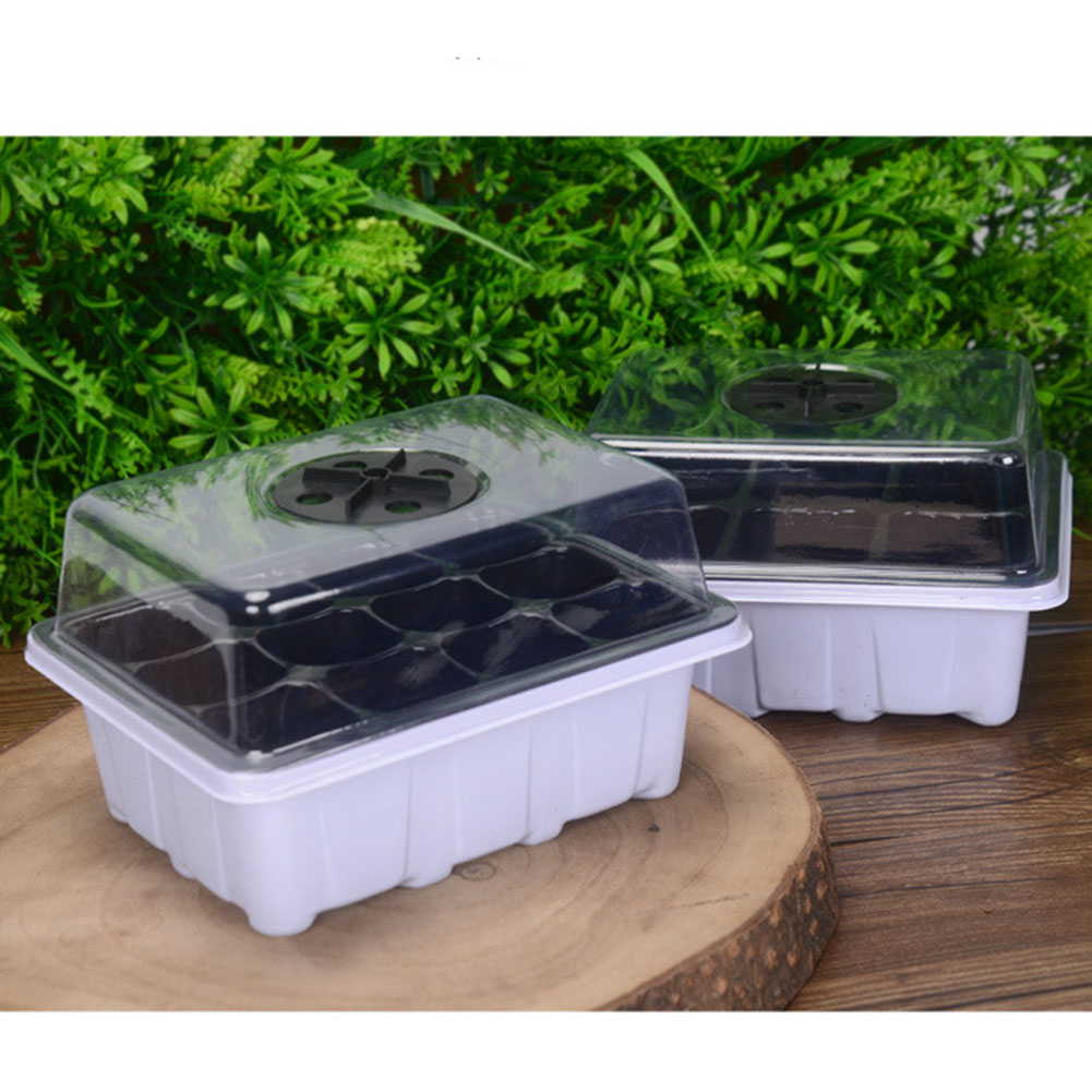 Plastic Succulents 6/12 Components Seedling Trays Seed Starter Box Plant Flower Grow Starting Pot With Lid