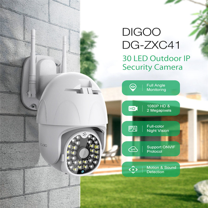 DIGOO HD 1080P PTZ IP Camera Outdoor Speed Dome Wireless Pan Tilt Wifi Security Camera Monitor 2MP Network CCTV Surveillance image