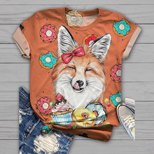 2020 Plus Size woman tshirts Short Sleeve 3D Animal Printed