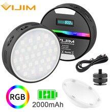 Ulanzi VIJIM R66 Mini RGB Video Light with Soft Diffuser LED Camera Light 360 Full Color Portable Photography Lighting CRI 95