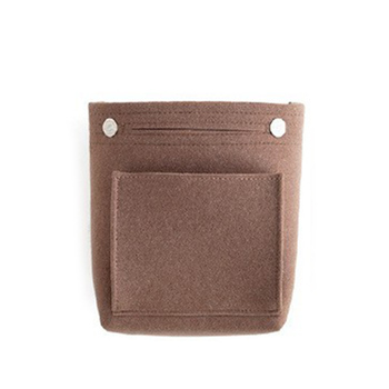 Bolso de maquillaje portátil para mujer, bolso de tela de fieltro, organizador de cosméticos SER88