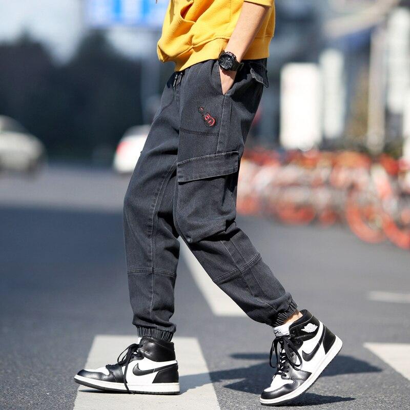 Japanese Streetwear Jeans For Men 2020 Blue Jeans Classical Male Trousers Men Jeans Pants Denim Man Jeans Harem Pants Hip Hop