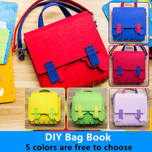Needle Felting My Book&Bag 2 In 1 Handmade Craft Kits Kid's Early Education Book Sewing Non-finished Quiet Book Material Package