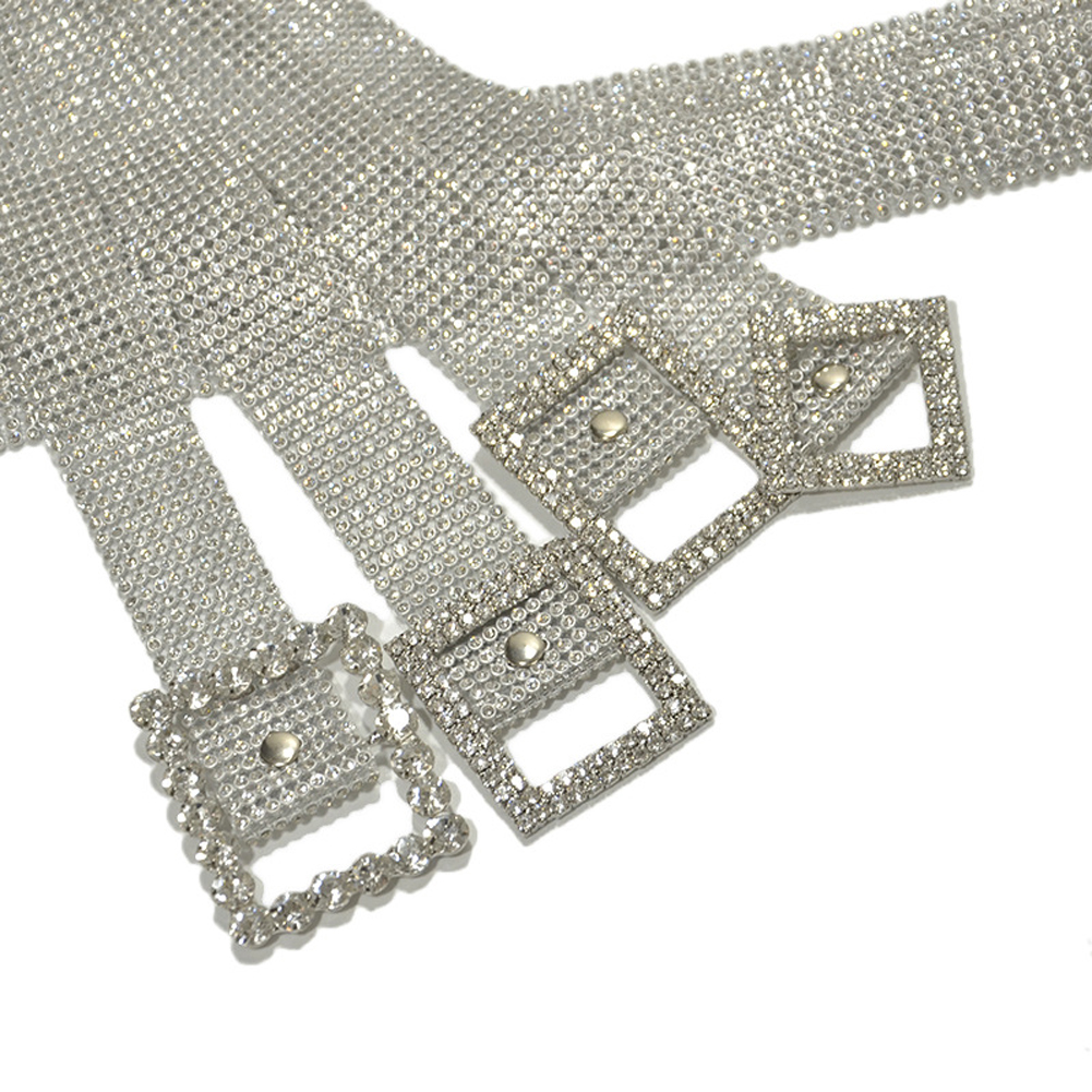 H22df6cddea324b1aa1b231899d9dc69dv Crystal Diamond Alloy Waistband Full Rhinestone Luxury Wide Party Belt