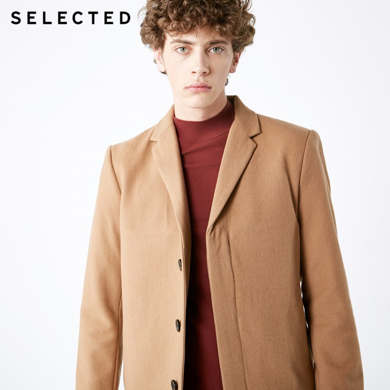 SELECTED Men's Wool-blend Coat Cashmere Medium Style Winter Outwear Woolen Jacket S | 418427561