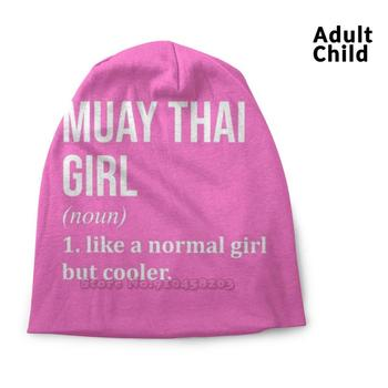 Muay Thai Girl Funny Quote For Women Beanie Knitted Hat Balaclava Hats Muay Thai Muay Thai Boxing Muay Thai Muay Thai Nak Muay image