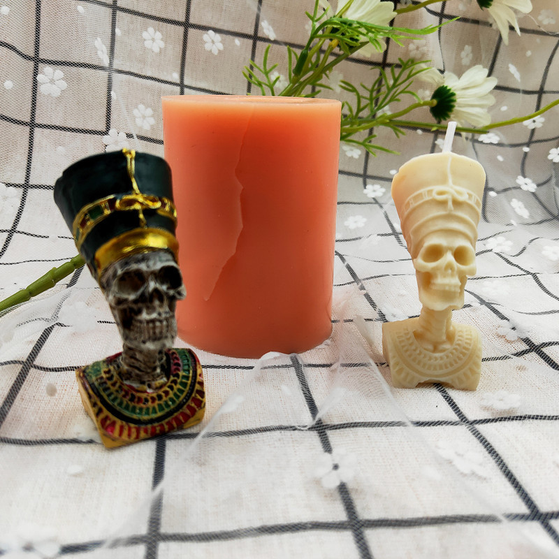 3D Skull Silicone Candle Mould DIY Handmade Mold Home Aromatherapy Gypsum Decorative Candle Making Mold Candle Material