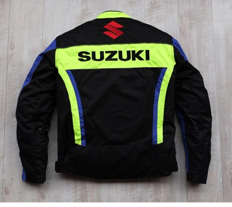 Nova Chegada 2019 Homens Da Motocicleta Jaquetas de Corrida para SUZUKI Offroad Motocross Equitação à prova de Vento Quente Jaqueta com 5pcs Protetores - 3