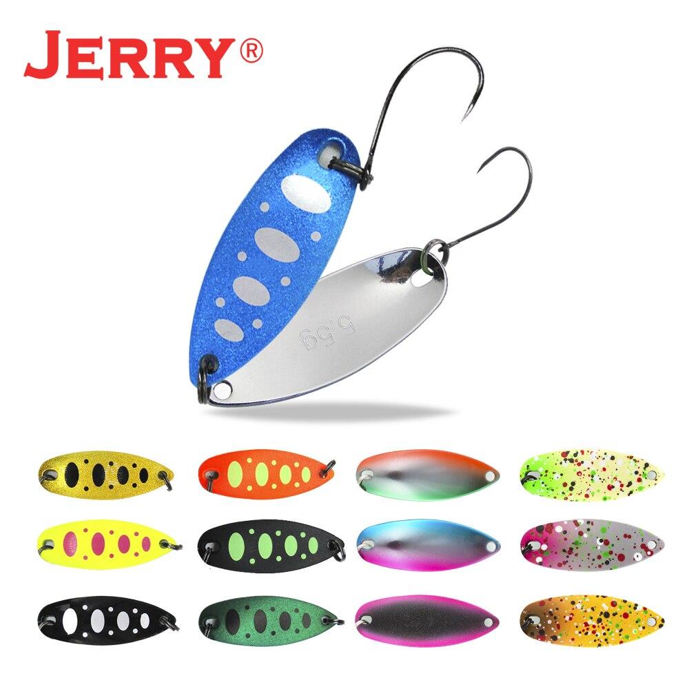 Jerry 1pc 2g 3.5g 5.5g carcaça de pesca colher ultraleve água doce latão metal isca truta pique baixo lago fiação pesca