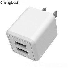 USB Charger 5V 2.1A MAX Universal Portable Travel Wall Adapter US Plug Dual Ports Foldable Mobile Phone