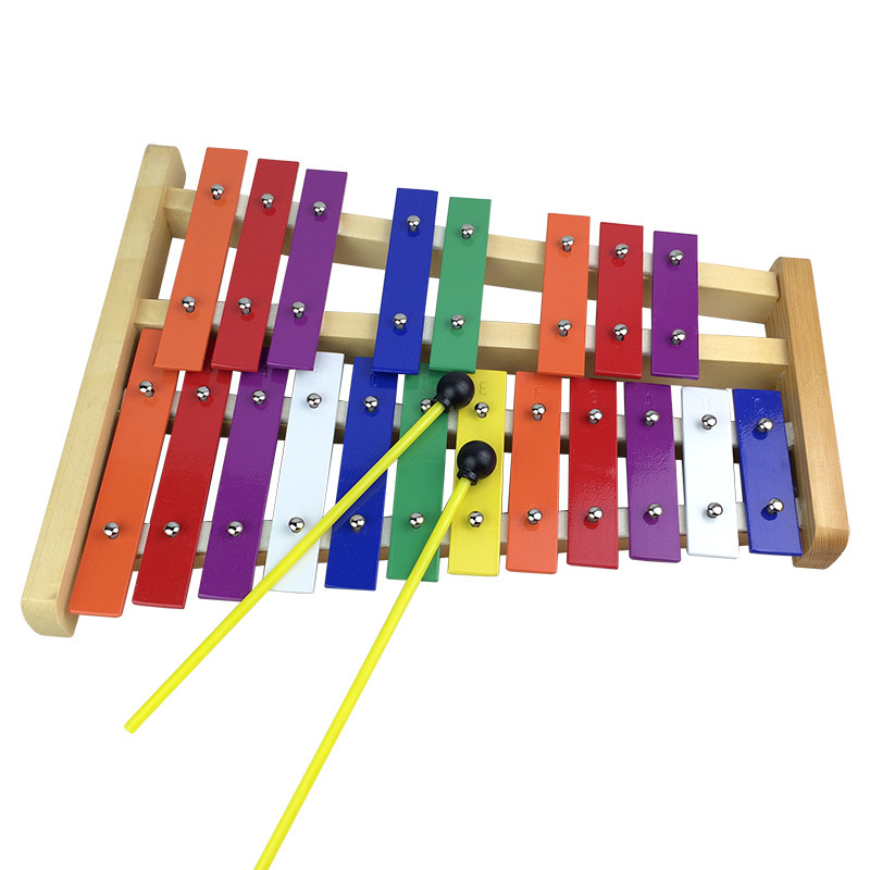 Orff Percussion Instrument Color 20 Music Instrument CHILDREN'S Instrument Children Wooden Base Twenty-five Sound Aluminum Piano