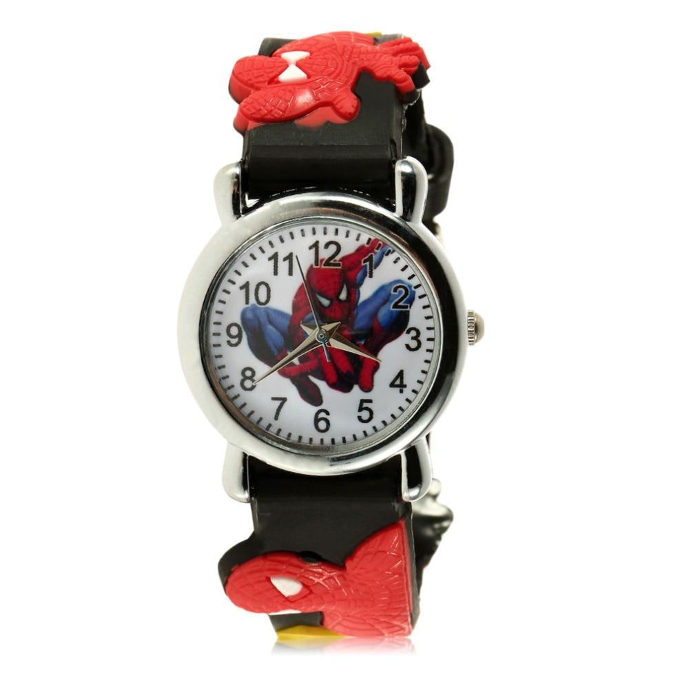 Children Boys Marvel Cartoon Kids Analog Quartz Wrist Watch Rubber Fashion Reloj NO1 Cool Design Relogio
