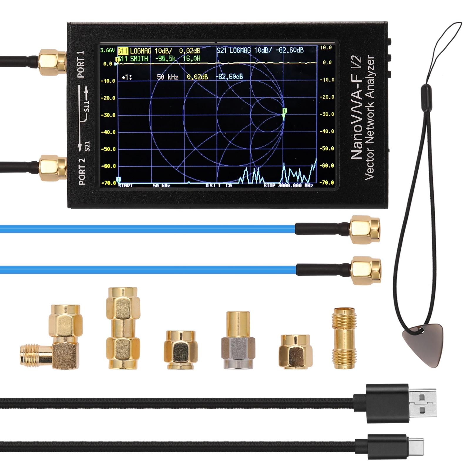 NanoVNA-F V2 4,3 дюймов IPS ЖК-дисплей Дисплей вектор сетевой анализатор S-A-A-2 анализатор антенны коротковолновое HF VHF Любительская рация