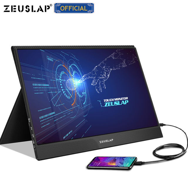 15.6inch touch panel portable monitor usb type c HDMI-compatible computer touch monitor for ps4 switch xbox one laptop phone 3