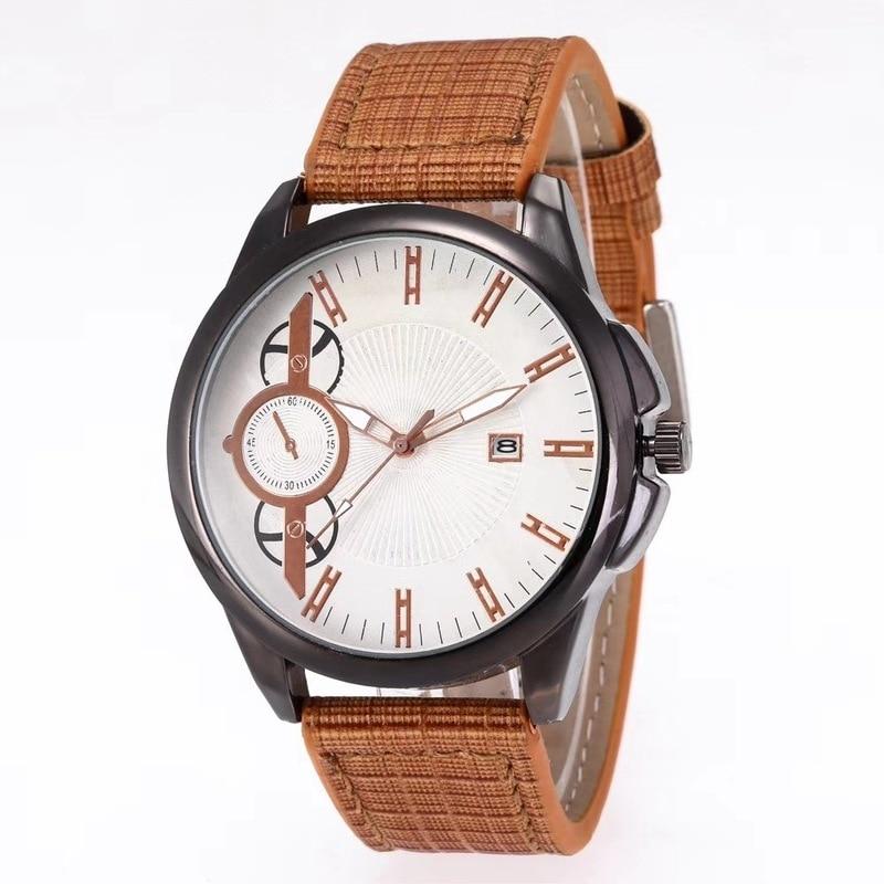 Joom Hot New Fashion Belt Calendar New Men's Watch Belt Watch Simple Watch Men's Waterproof Watch
