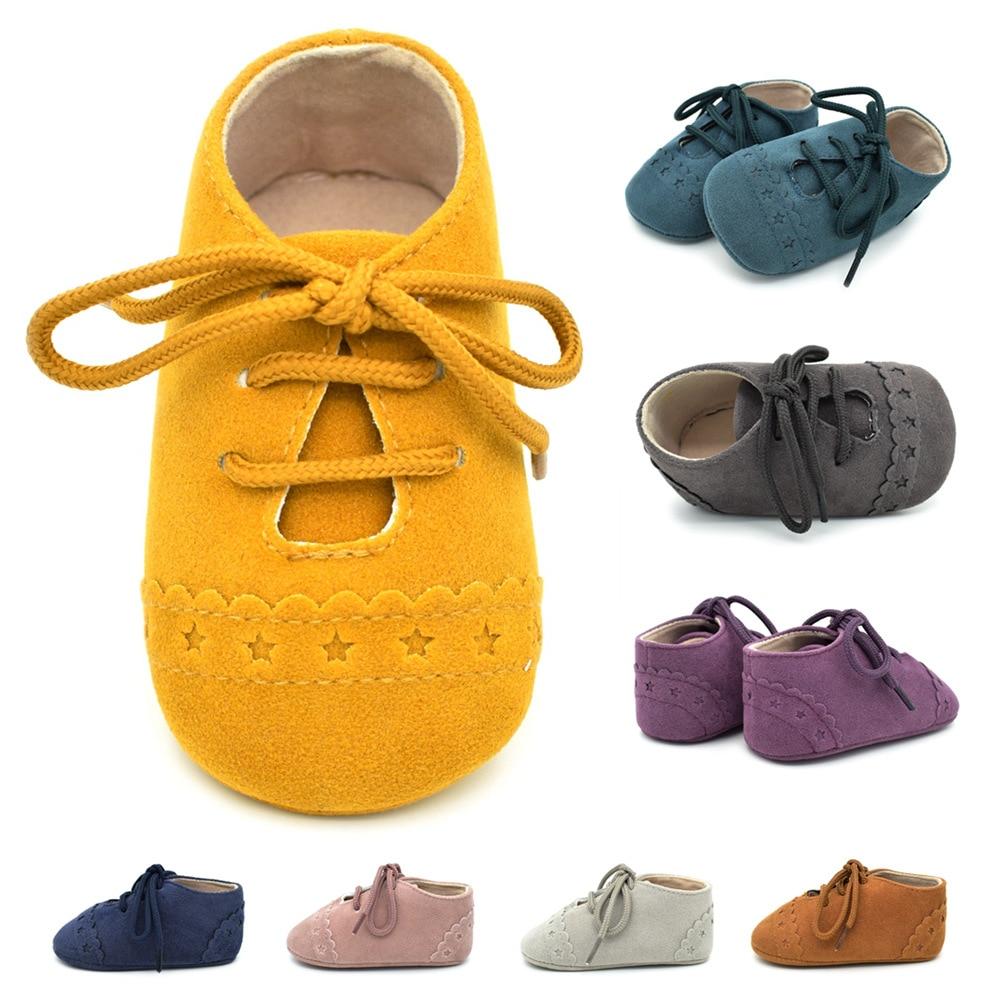 Newborn Baby First Walk Shoes Girl Boy Soft Nubuck Leather Prewalker Anti-slip Shoes Moccasins Footwear Shoes Toddler Shoes