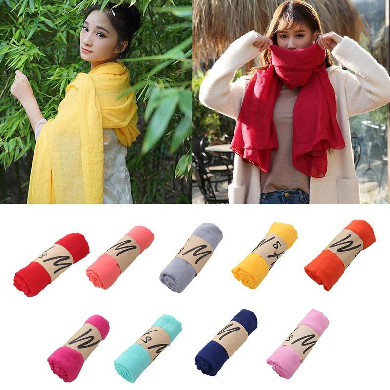 180*85cm New Style Cotton And Linen Scarf Women's National Style Scarf Shawl Gift Muslim Crinkle Hijab Scarf Cotton Headscarf
