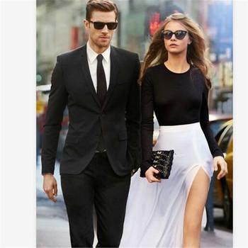 New Men's Suit Smolking Noivo Terno Slim Fit Easculino Evening Suits For Men black Suit mens formal jacket+pants
