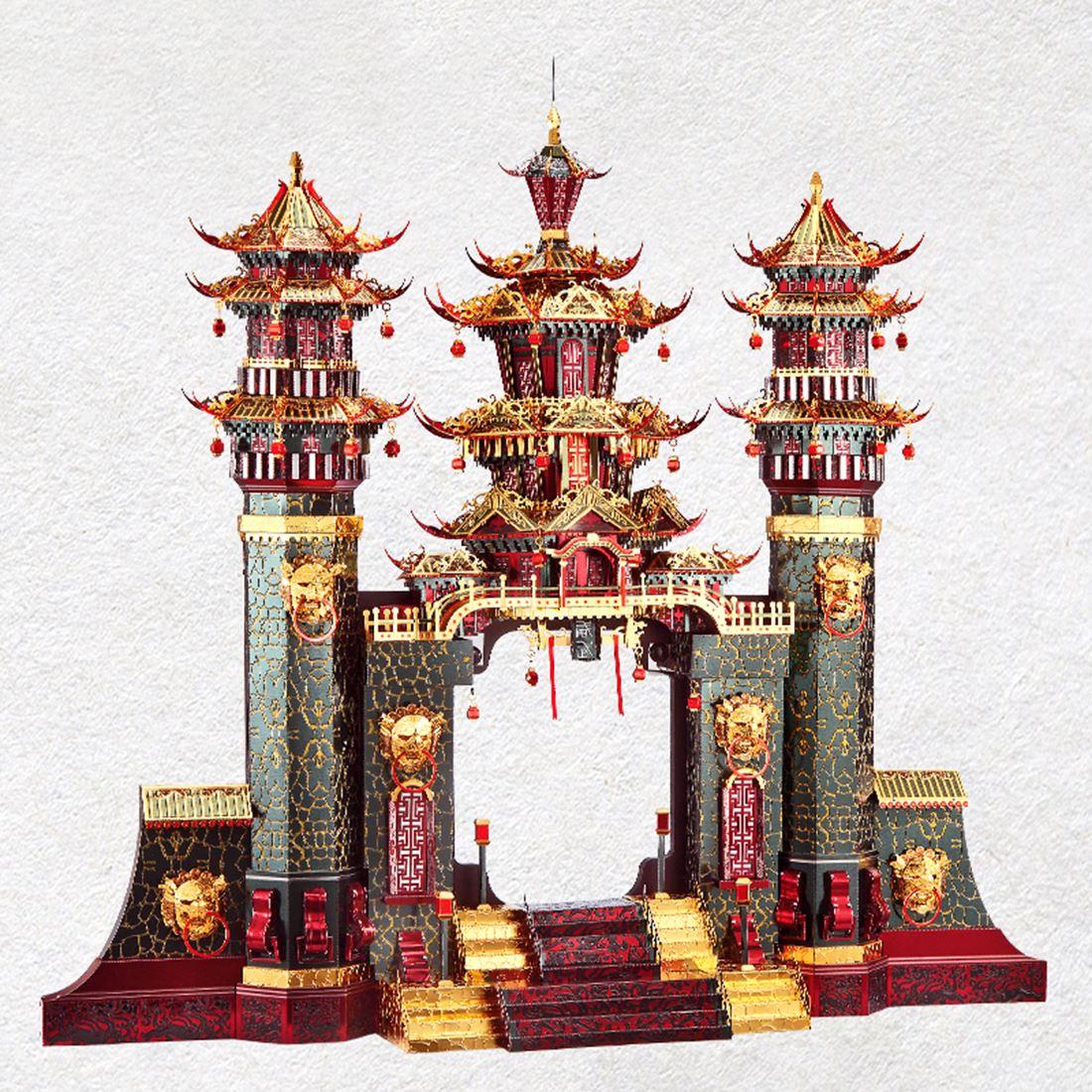Архитектурная серия Южные ворота , модель, наборы, сделай сам, 3D металлические пазлы, сборная головоломка, игрушка, модель, обучающая игрушка, подарок для детей и взрослых - 5