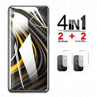 Para Xiaomi Poco M3 de hidrogel de película Protector de pantalla para xiaomi Poco M 3 PocoM3 PocophoneM3 de vidrio templado de la Lente de la cámara