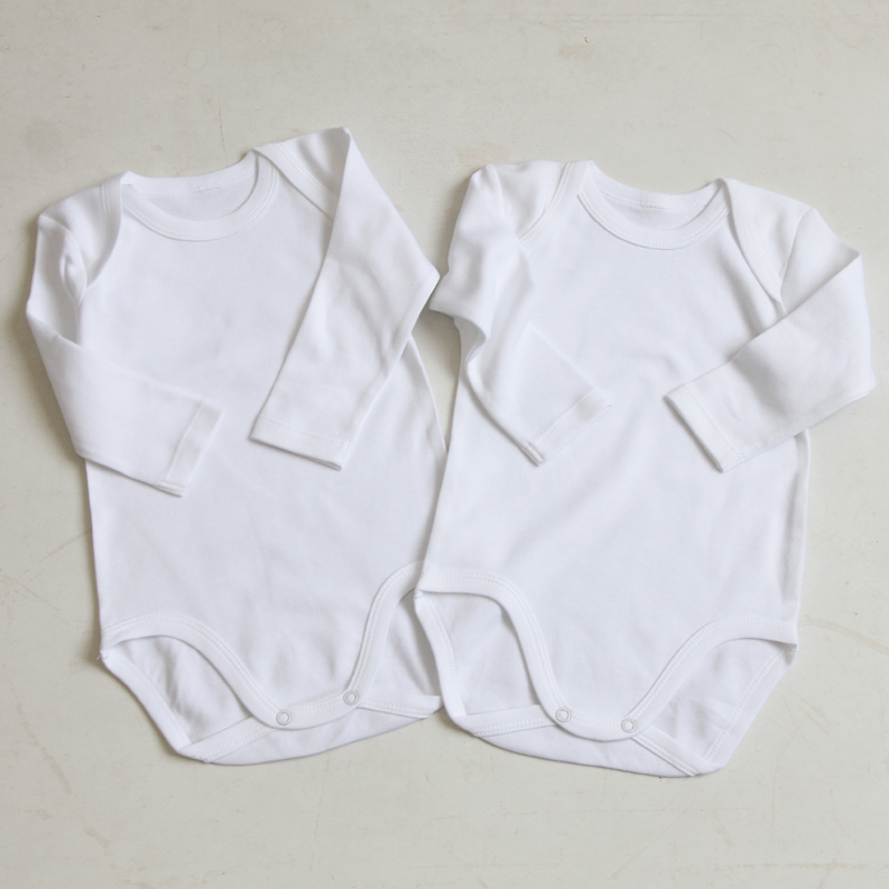 2/3/4pcs Baby Clothes Bodysuit Boys Clothes Girls Clothes Kids Long Sleeves 100% Cotton Overalls White Baby Bodysuit Round Neck