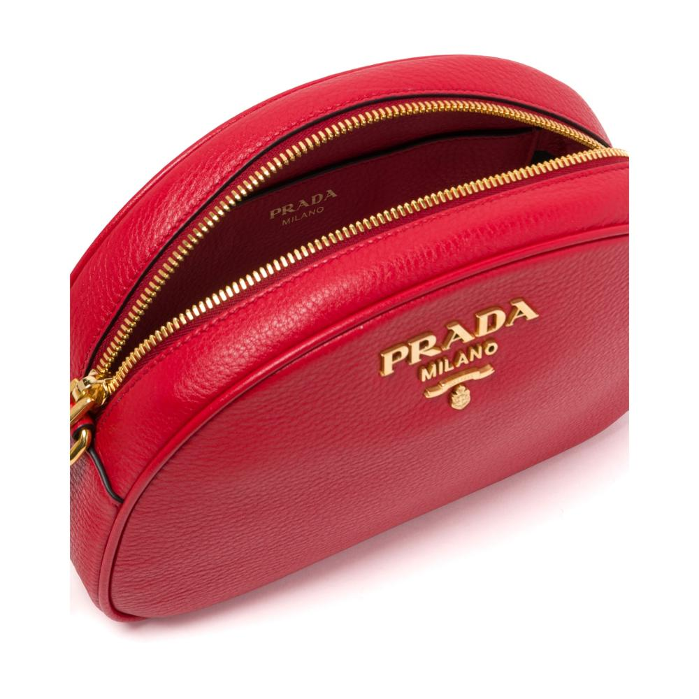Prada Leather Women's Shoulder Bags Strap Handbags Leather Zipper Shoulder Bag Female Handbag 1BH130 2BBE F0EOO V NOO - 5