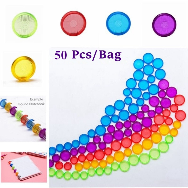 50Pcs 18mm/24mm Ring Binder For Notebooks/Planner Colorful Binding Rings Loose Leaf Disc Binder Rings CX19-004-50pcs