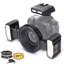 Meike Macro Twin Lite MK-MT24 Speedlight Flash para Nikon D3100 D3200 D3300 D3400 D5000 D5300 D5500 D7000 D7100 Câmeras DSLR + PRESENTE
