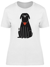 Dog And Man With Red Hearts Women'S Tee -Image By  Casual Print Fashion Tee Shirt(China)
