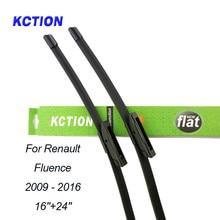 Car Windshield Wiper Blade For Renault Fluence(2009-2016), 16+24, Natural rubber, Bracketless, Accessories