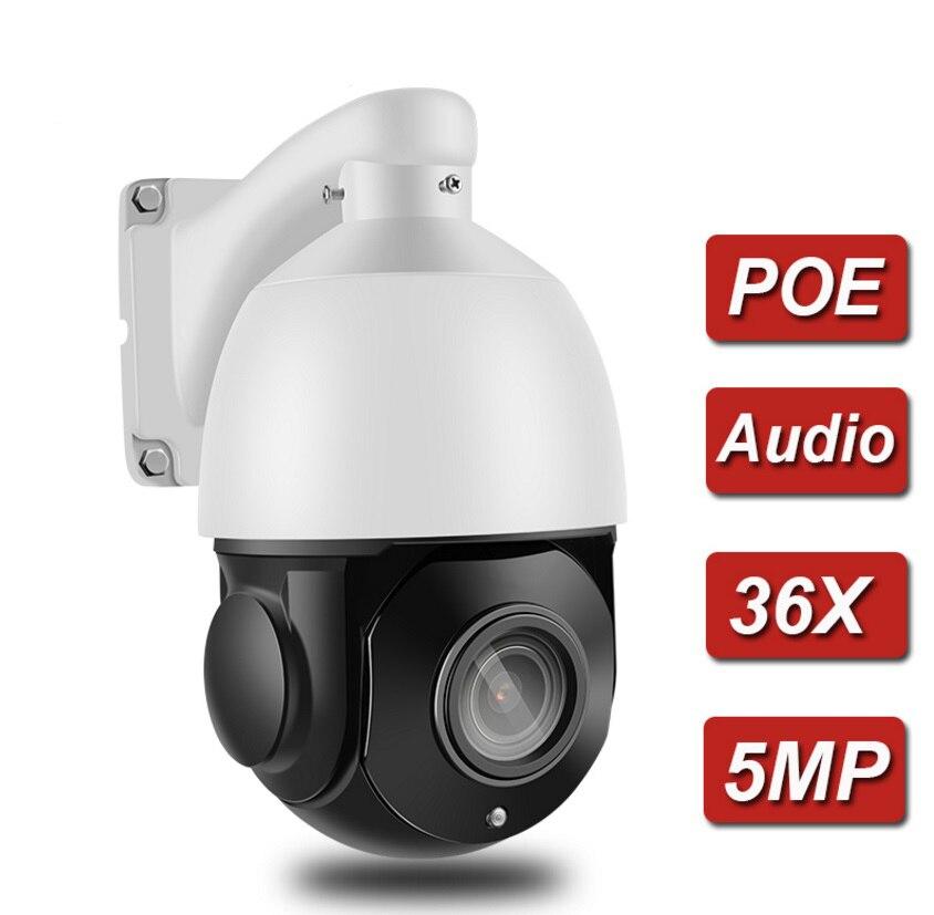 Mini 4 ptz ptz ptz ip câmera de alta velocidade dome câmera ip 5mp 36x zoom óptico ao ar livre impermeável onvif cctv cam