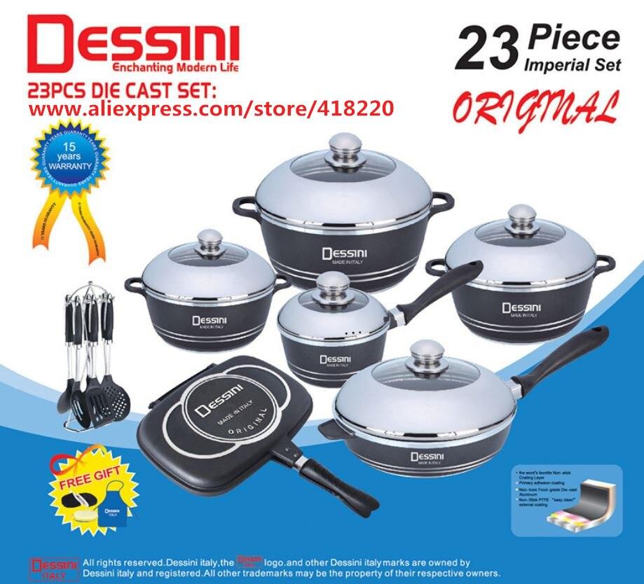 23 pièces/ensemble batterie de cuisine panela antiadhésive en fonte d'aluminium batterie de cuisine ensemble casserole poêle à frire outils de cuisson