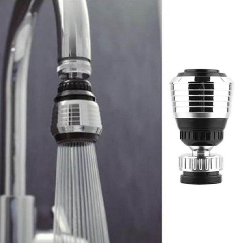 Вращающийся на 360 ° водосберегающий кран аэратор Распылитель Поворотная фильтрующая насадка на кран адаптер для кухни ванной комнаты Новый