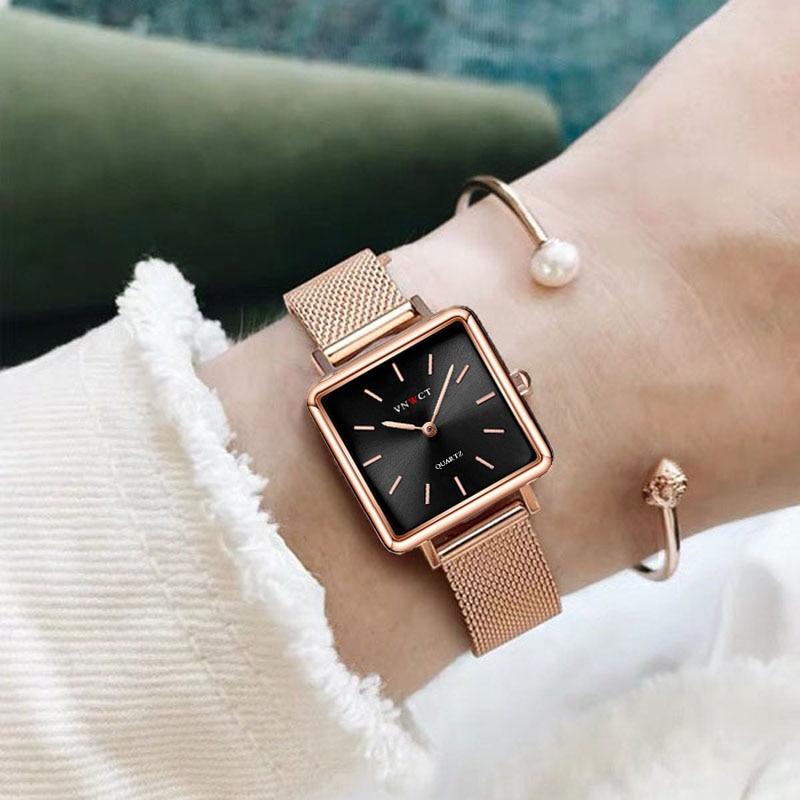 Luxury Designer Brand Women Casual Dress Quartz Watch Ladies Bracelet Watches Fashion Stainless Steel Uhr Clock 2020 New