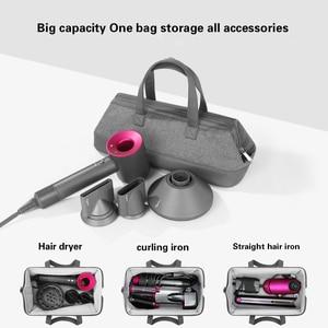 Image 2 - Liboer dyson secador de cabelo saco grande capacidade saco de armazenamento com alça para dyson secador de cabelo portátil caso transporte dustproof organizador