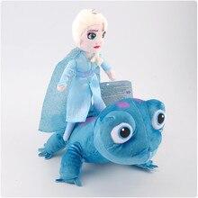 4 Styles Snow Queen Princess Anna Elsa Plush Doll 2020 NEW Fire Lizard 2 Fever Fire Elves Snowman Olaf Plush Doll For Kid Child