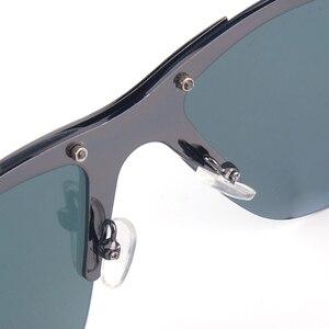 Image 5 - Vazrobe المتضخم النظارات الشمسية الرجال الاستقطاب 165 مللي متر بدون شفة نظارات شمسية للرجل واسعة رئيس إطار كبير القيادة نمط الرياضة