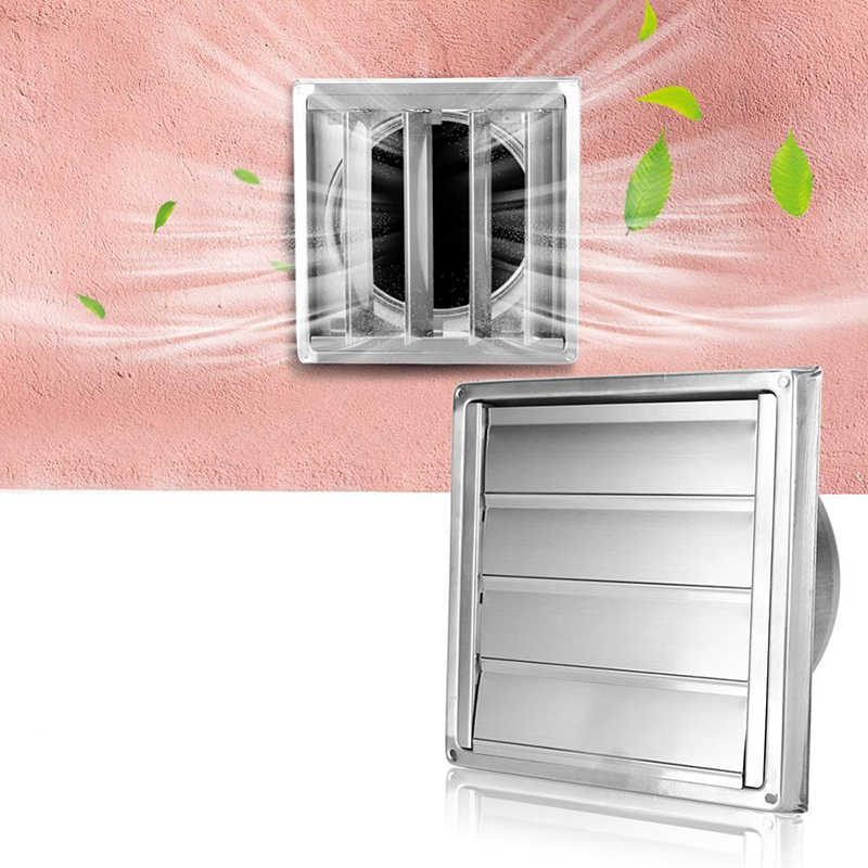 Ventilasi Udara Stainless Steel Vent Duct Grill Square Outlet Udara Extractor Ventilasi Cover Square Extractor