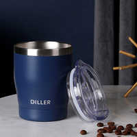 DILLER Thermos Coffee Mug Double Wall Stainless Steel Tumbler Vacuum Flask bottle thermo Tea mug Travel thermos mug Thermocup