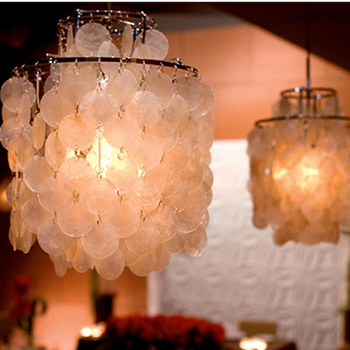 Naturel Blanc Coquille Applique Suspension Lampe Fille Chambre Décoration éclairage LED E27 Restaurant Café Hôtel Loft Lampes Suspendues