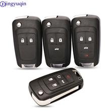 jingyuqin Flip Folding Remote car Key Shell For Chevrolet Cruze Epica Lova Camaro Impala 2 3 4 5 Button HU100 Blade
